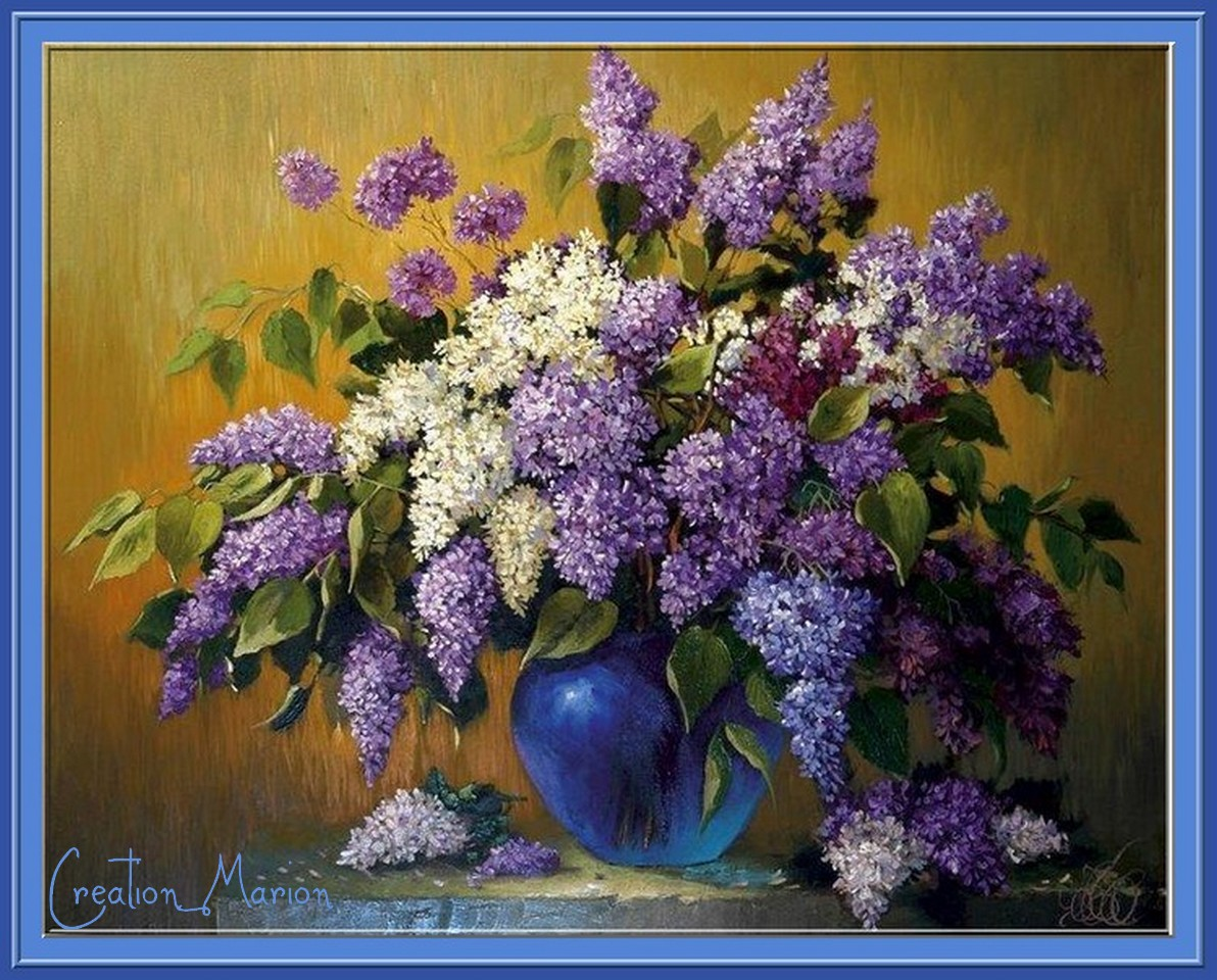 Nouvelle page 3 for Bouquet de fleurs lilas